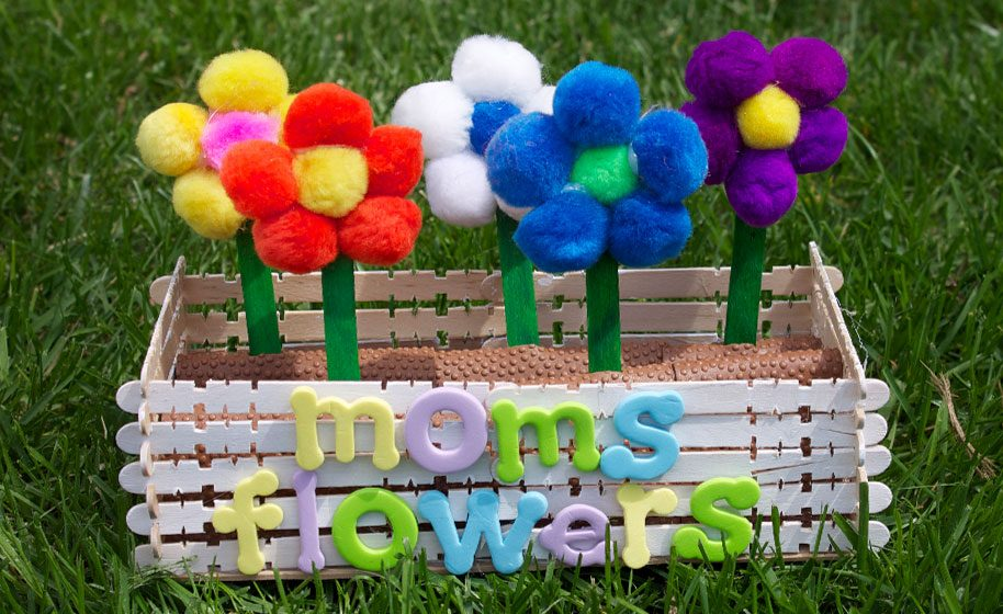 moms flower box mothers day craft idea
