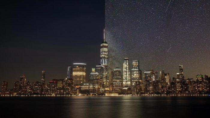 new york city light pollution