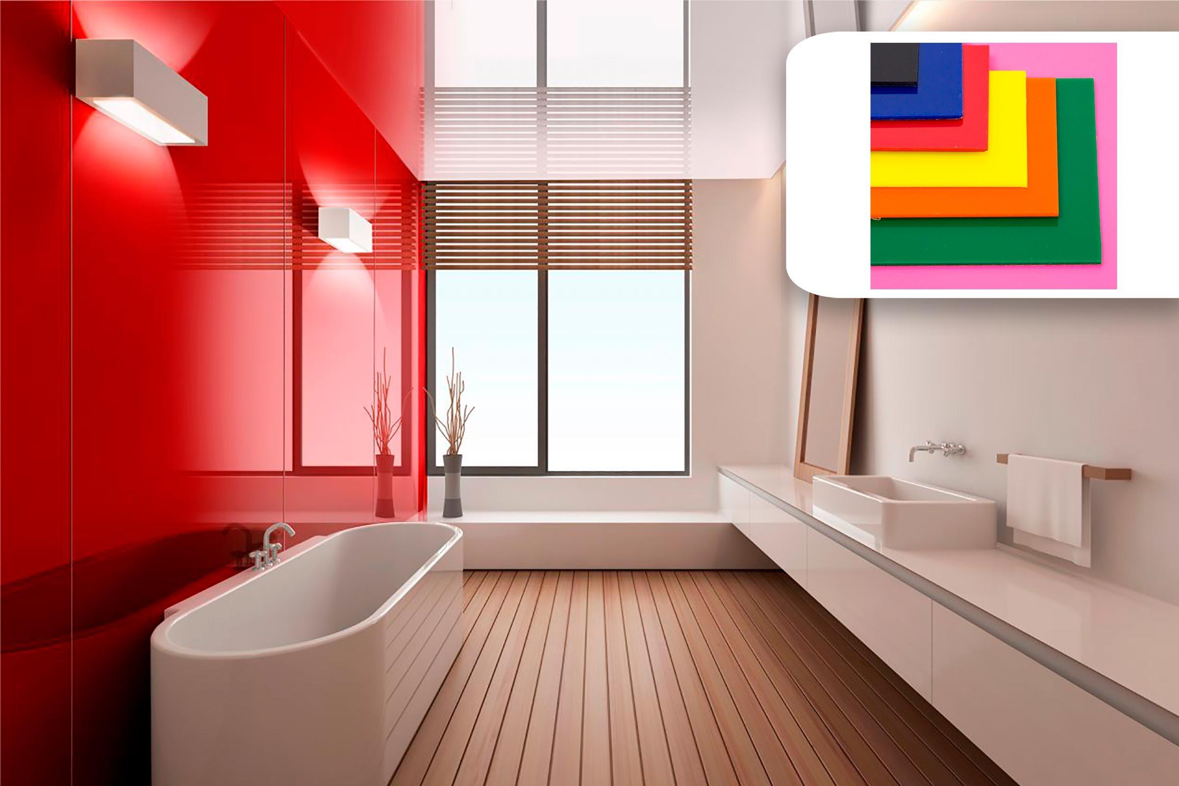 plexiglass bathroom accent