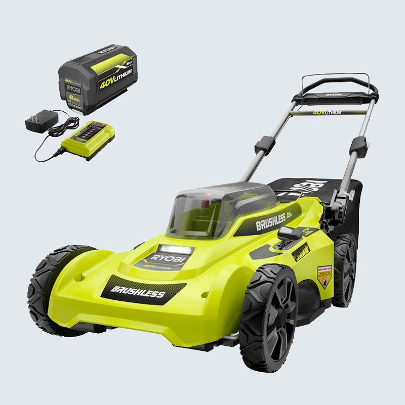 Ryobi 40 Volt Brushless Cordless Battery Push Lawn Mower
