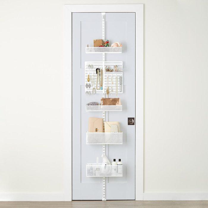 The Container Store White Elfa Utility Mesh Closet Door & Wall Rack