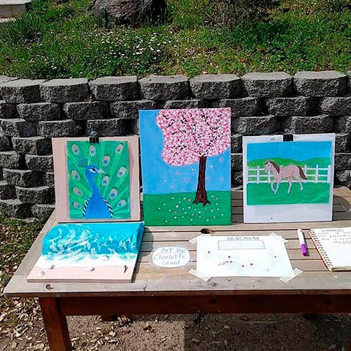 Sponsoring a kids' art show