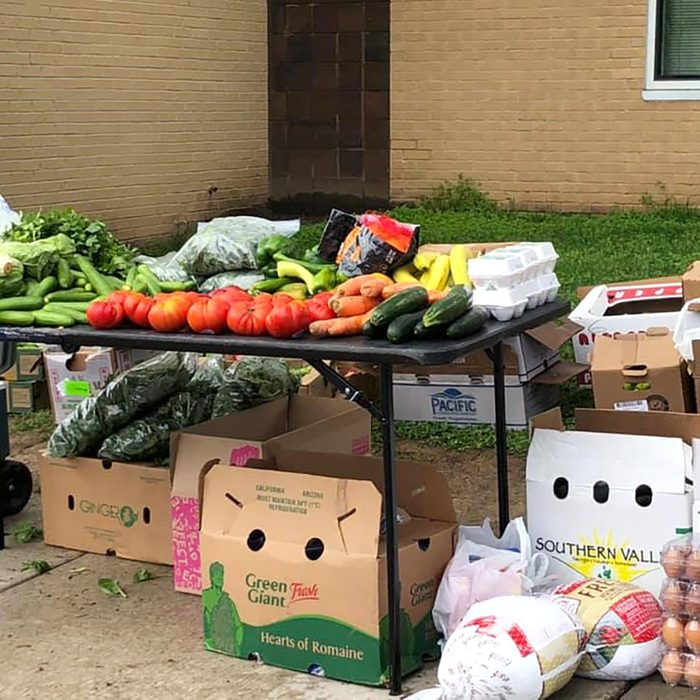 Teacher sets up sites to distribute food