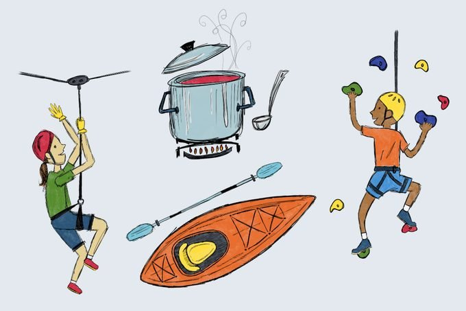 camp illustrations by maria amador