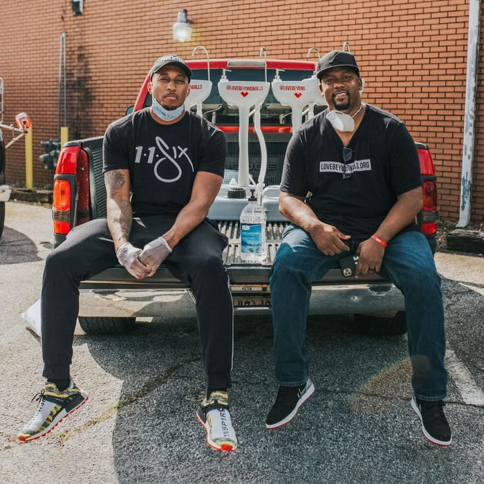 Terrance Lester (right) and Lecrae Moore on their Love Sinks In mission