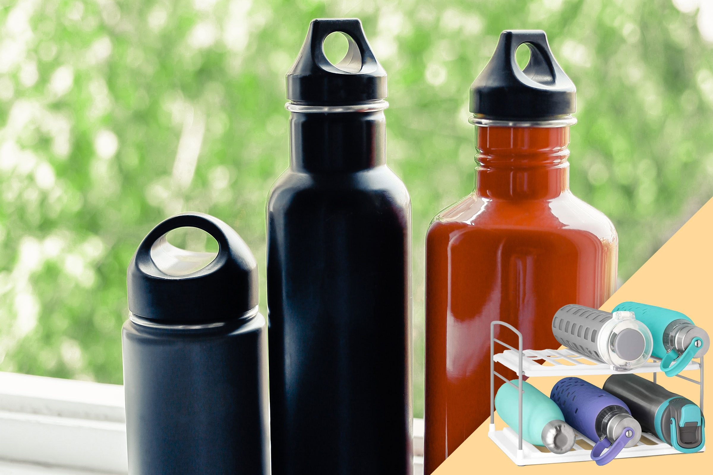 reusable water bottles; with suggested product