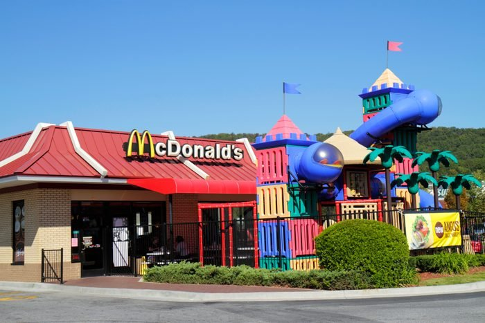 A playground outside McDonald's.