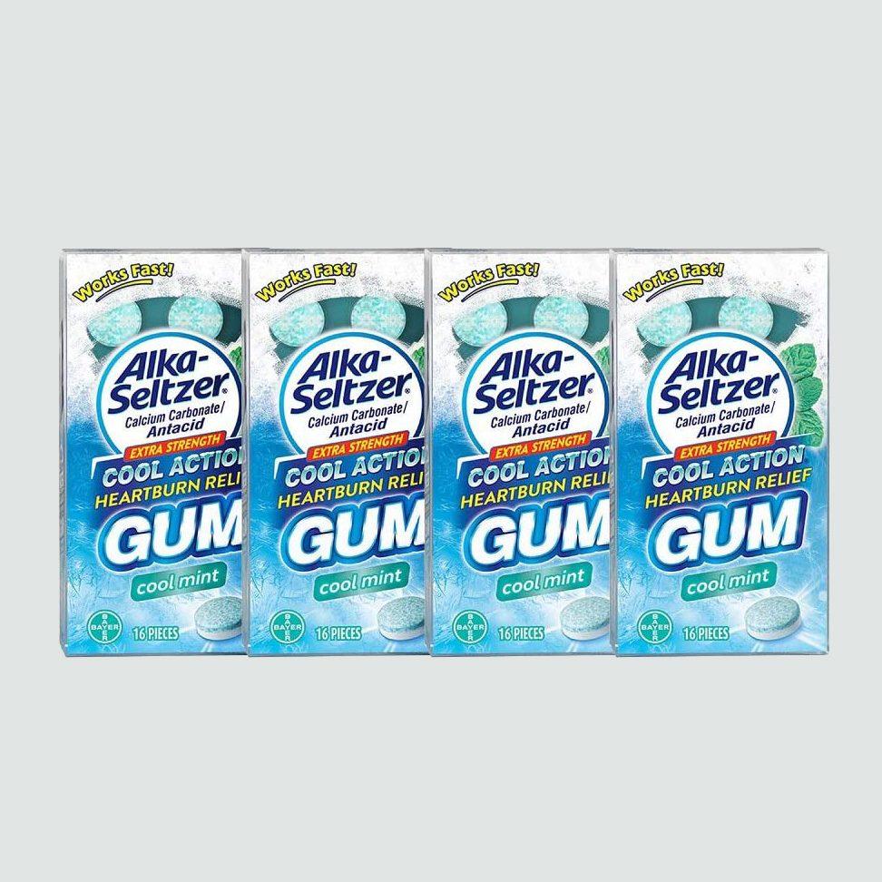 Alka Seltzer Extra Strength Cool Action Heartburn Relief Gum