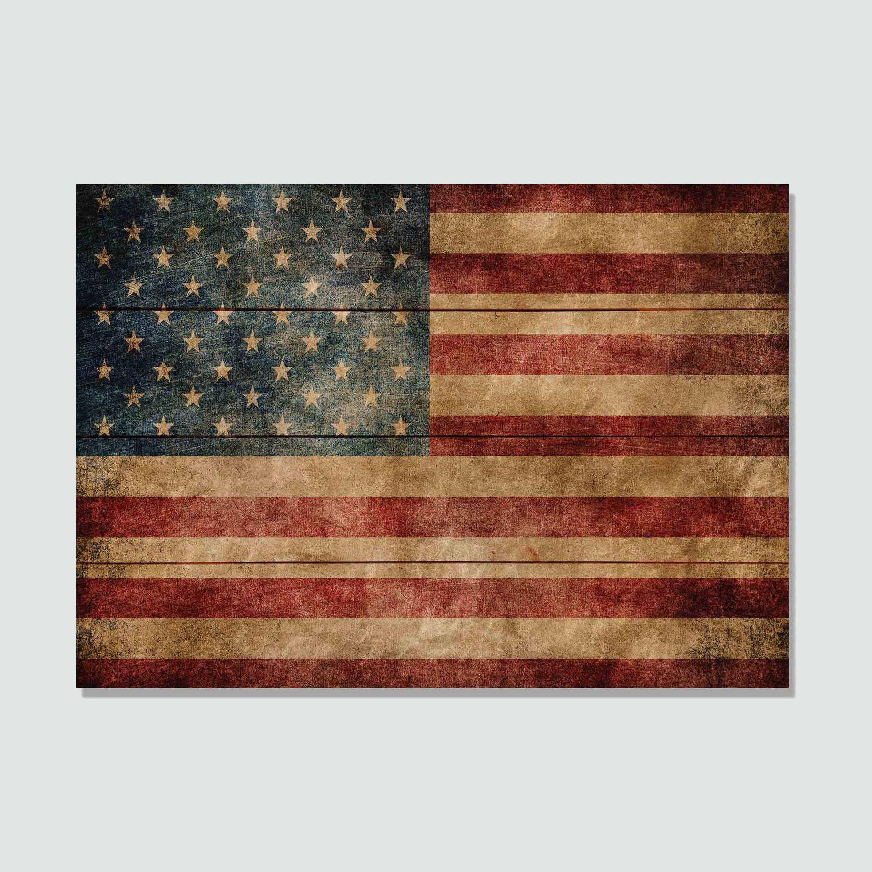 Daydream HQ Rustic Wood American Flag Print