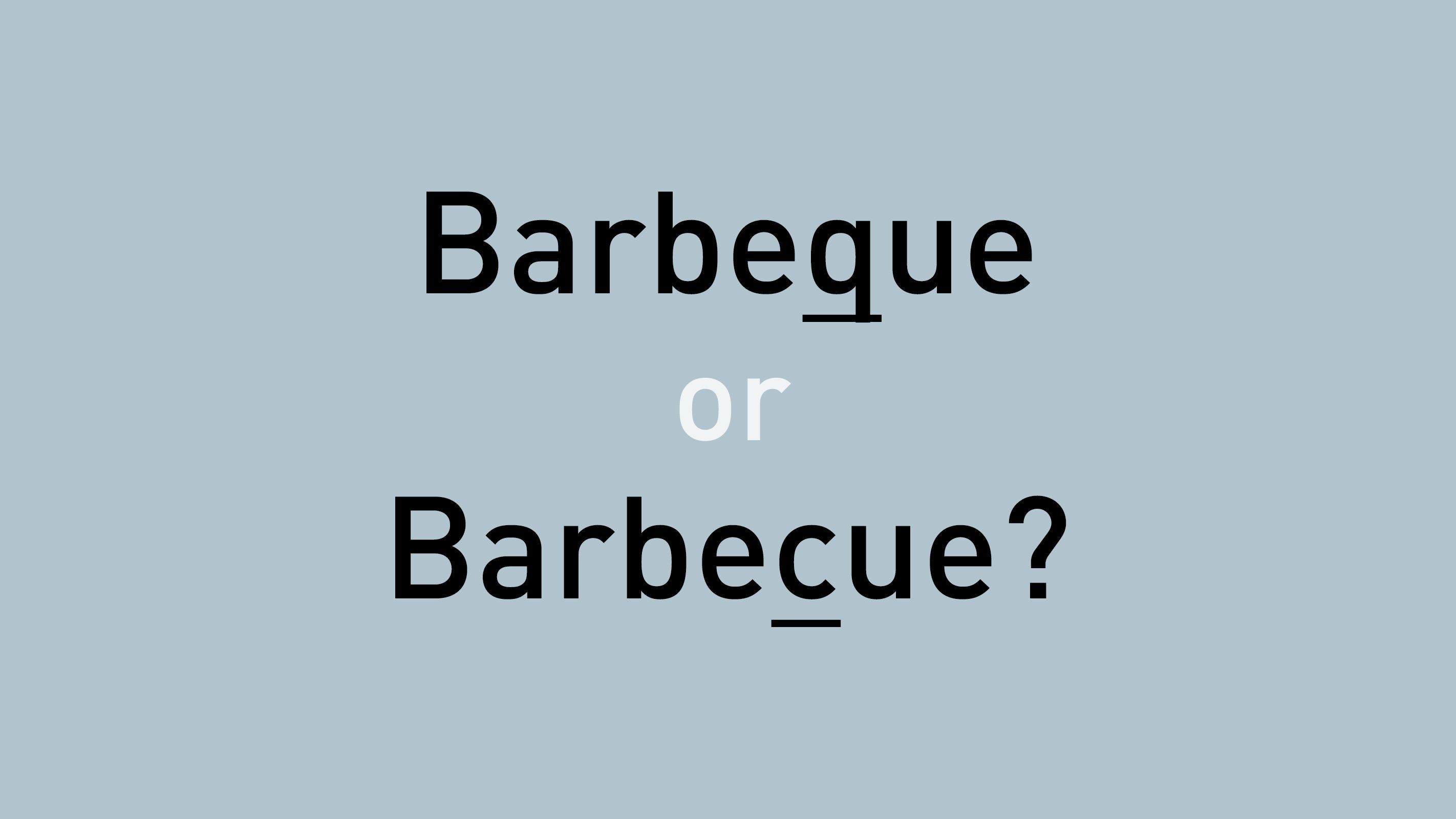 barbeque or barbecue?