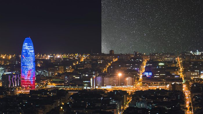 Under Lucky Stars barcelona star pollution light pollution