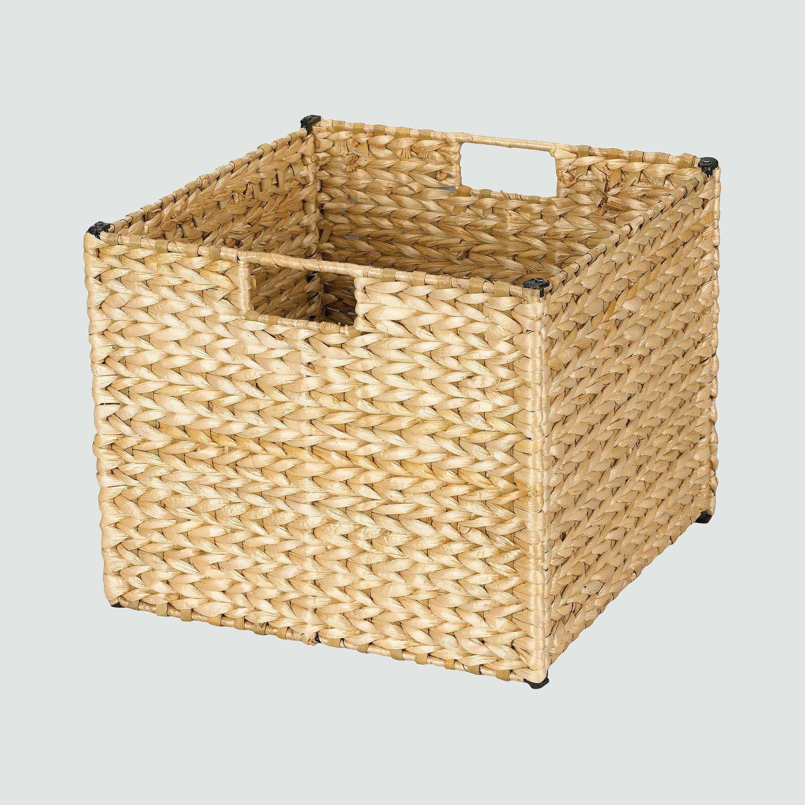 Household Essentials Banana Leaf Cube Storage Basket