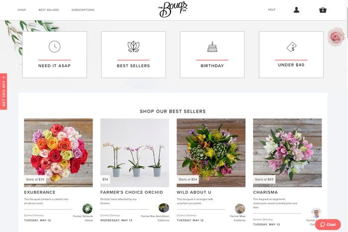 Beautiful bouquets: The Bouqs Co.