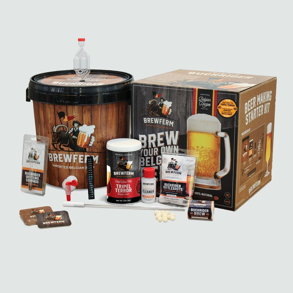 Brewfirm Buckriders Belgian Home Brewing Starter Craft Beer Kit