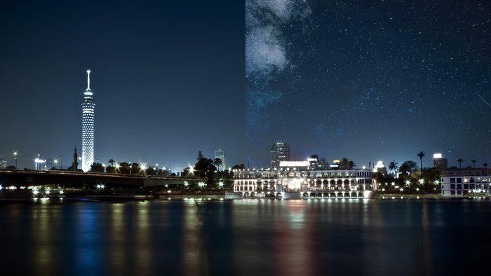 Cairo Egypt light pollution