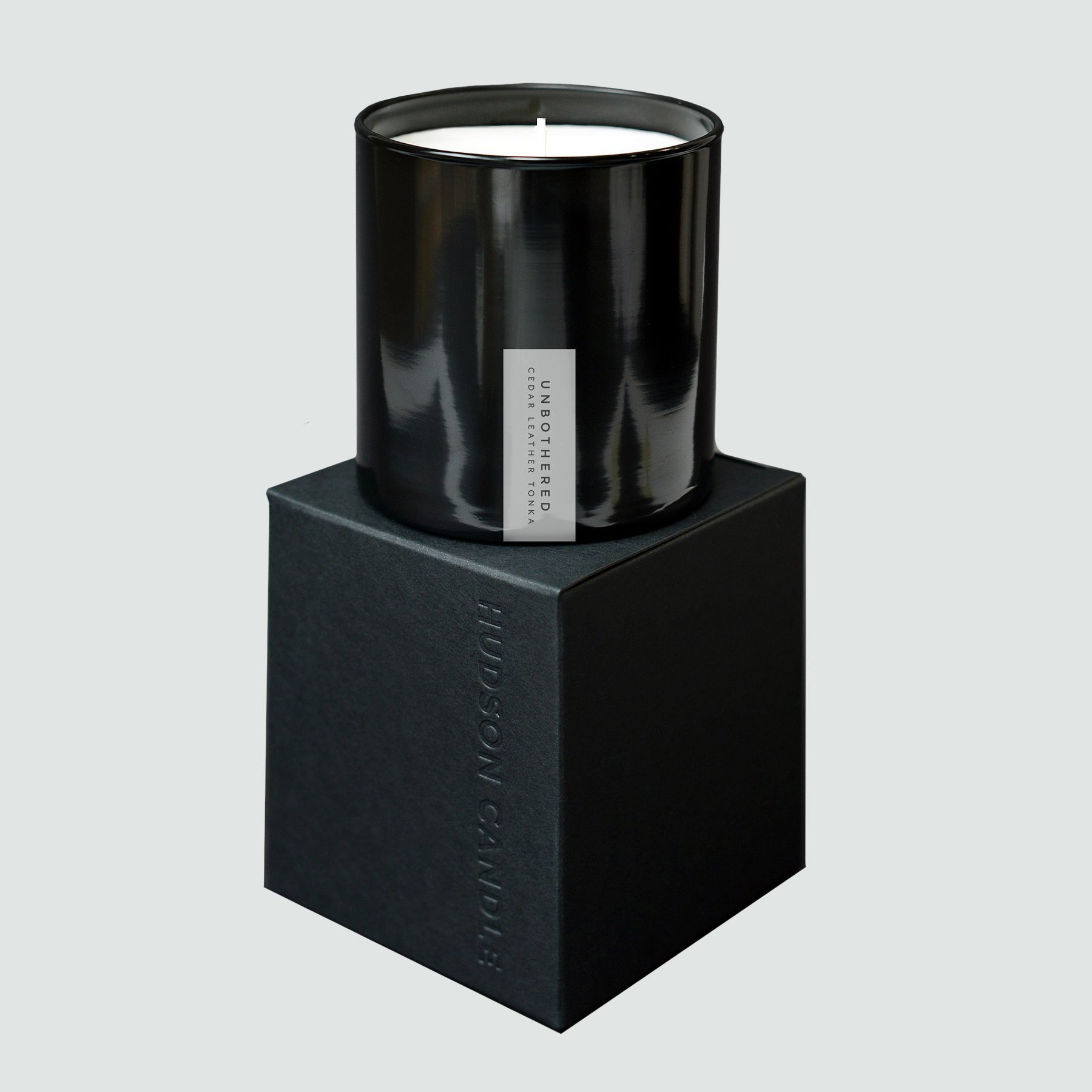 Hudson's Candle Unbothered Cedar Leather Candle