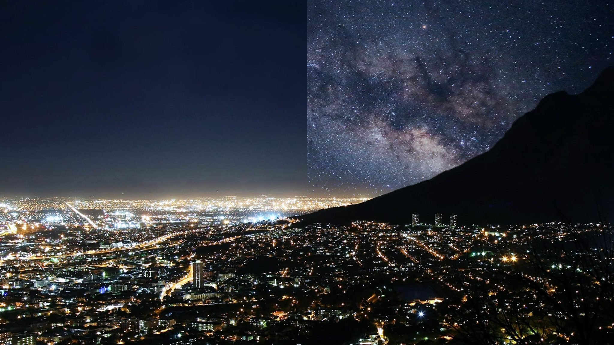 capetown South Africa light pollution