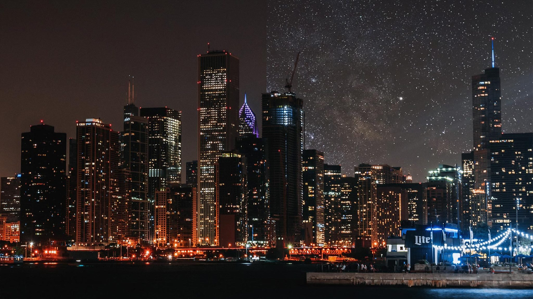 chicago light pollution