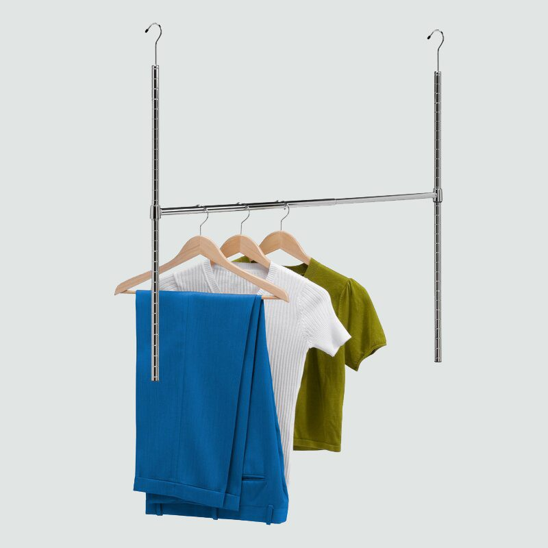 Dotted Line hanging closet rod