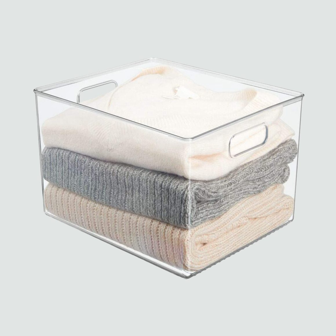 mDesign Plastic Home Storage Basket Bin, 4 pack