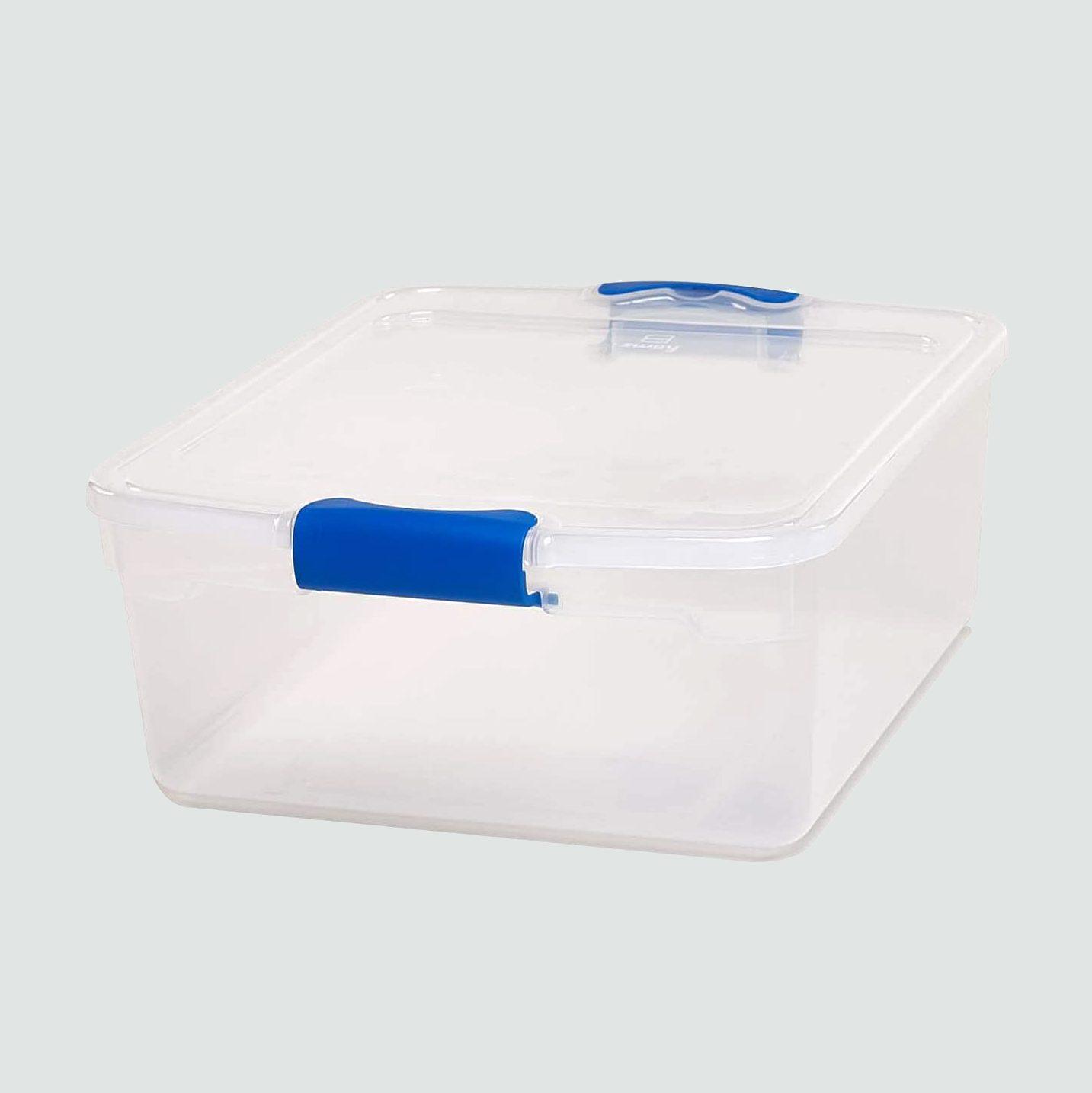 Homz large storage bins, 5 pack