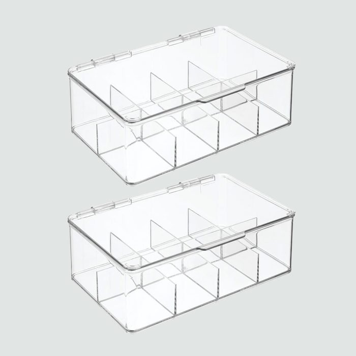 mDesign Stackable Plastic Tea Bag Organizer