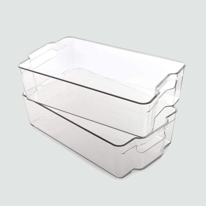 Bino plastic stacking bins, 2 pack