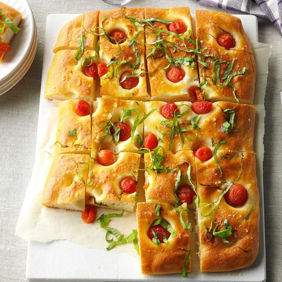 Aquarius: Cherry Tomato and Basil Focaccia