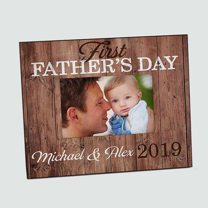 First Father's Day Personalized Picture Frame