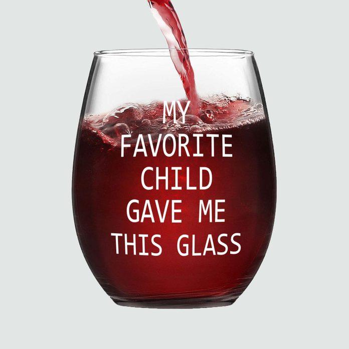 Favorite Child Stemless Wine Glass gift