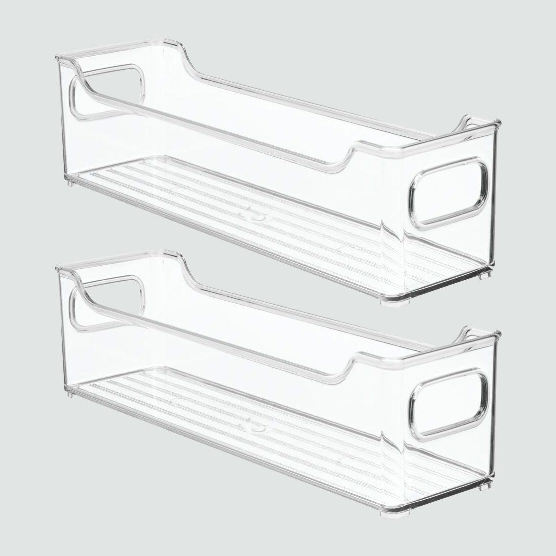 mDesign Plastic Kitchen Cabinet Food Storage Bin