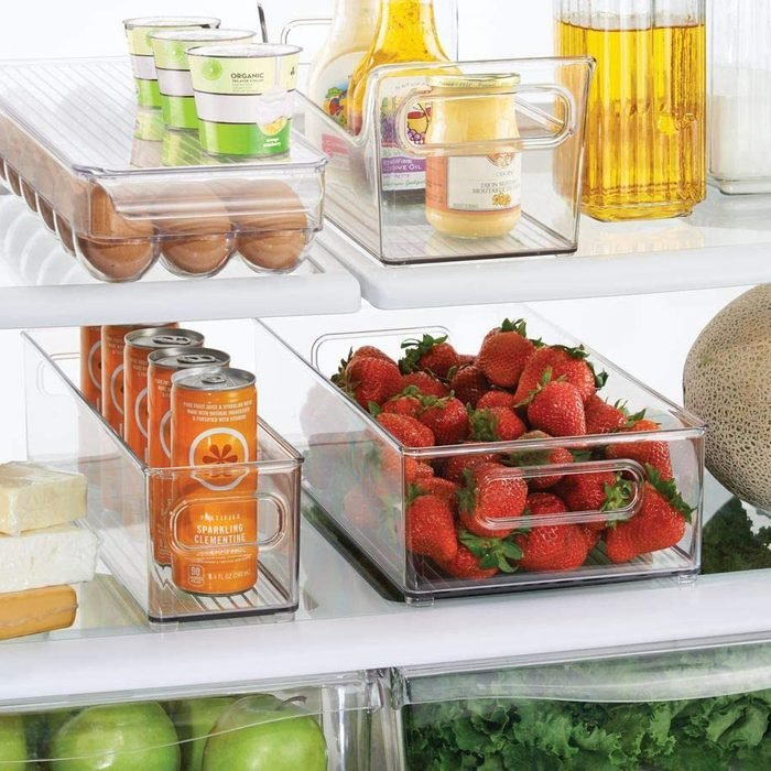 mDesign Plastic Kitchen Pantry Cabinet