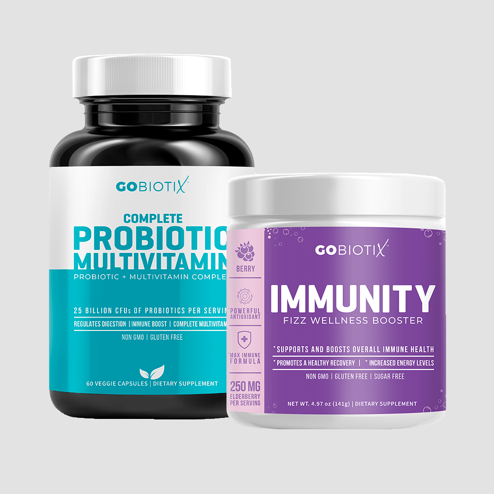 GoBiotix Probiotic Multivitamin and Immunity Booster Bundle