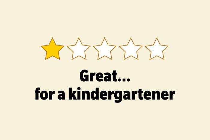 Great... for a kindergartener