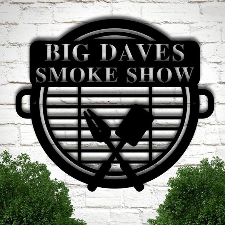 Personalized Metal 'Smoke Shop' or 'Grill' Sign