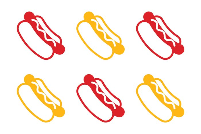 hot dogs icons