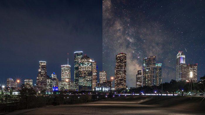 Houston Texas light pollution