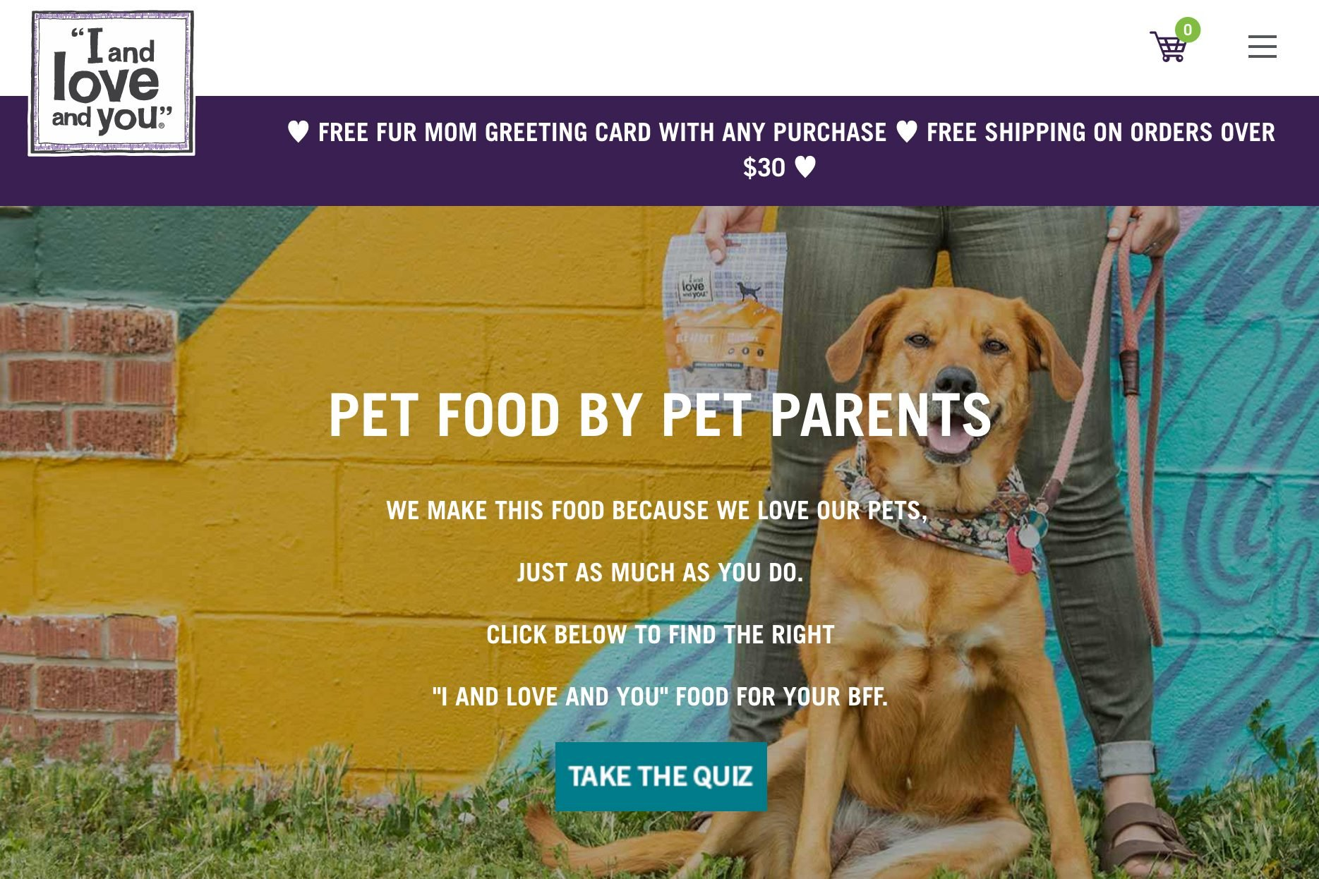 Pet food, treats, and supplies: I and Love and You
