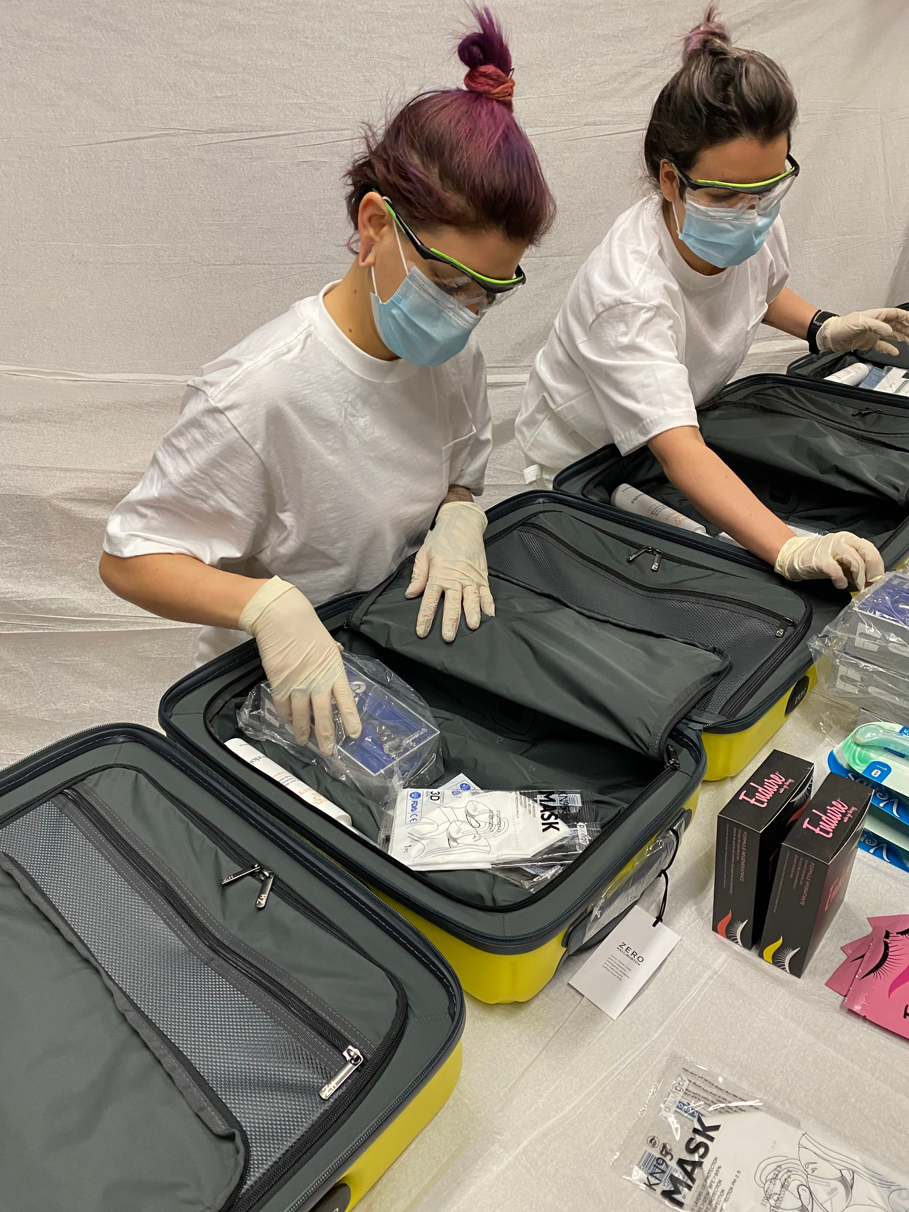 packing suitcases for nurses thank you medical workers