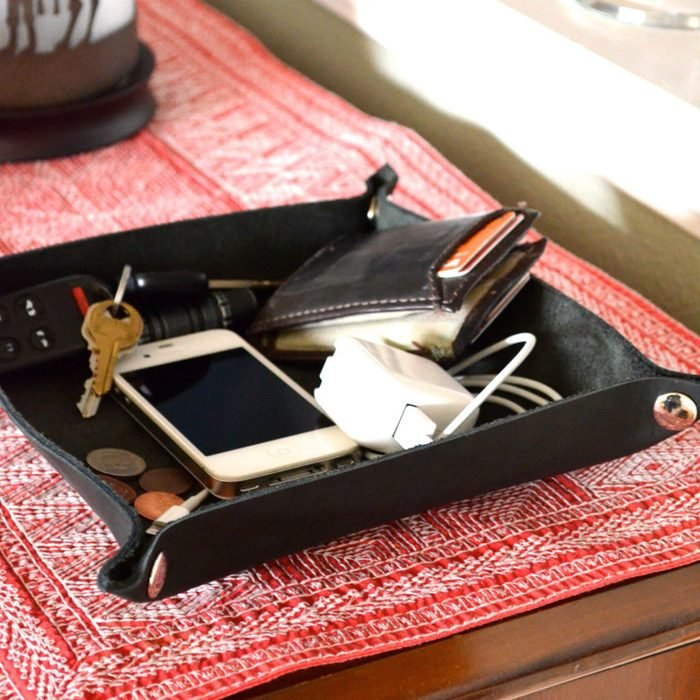 Leather Valet Tray