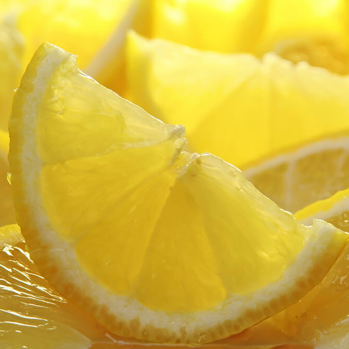 lemon wedges closeup