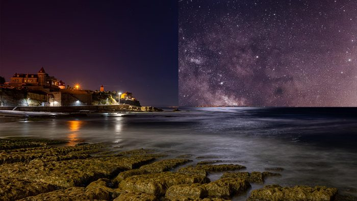 Lisbon Portugal light pollution