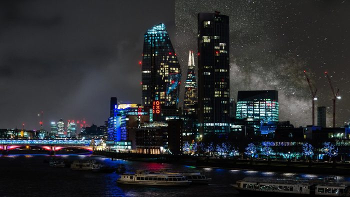 London United Kngdom light pollution city