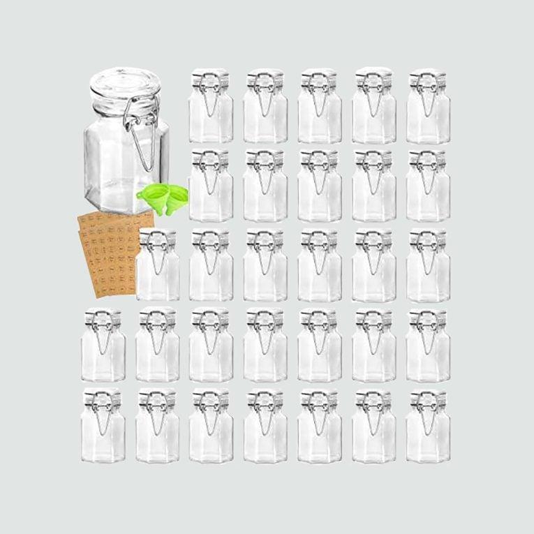SimpleHouseware glass spice jars, 12 pack
