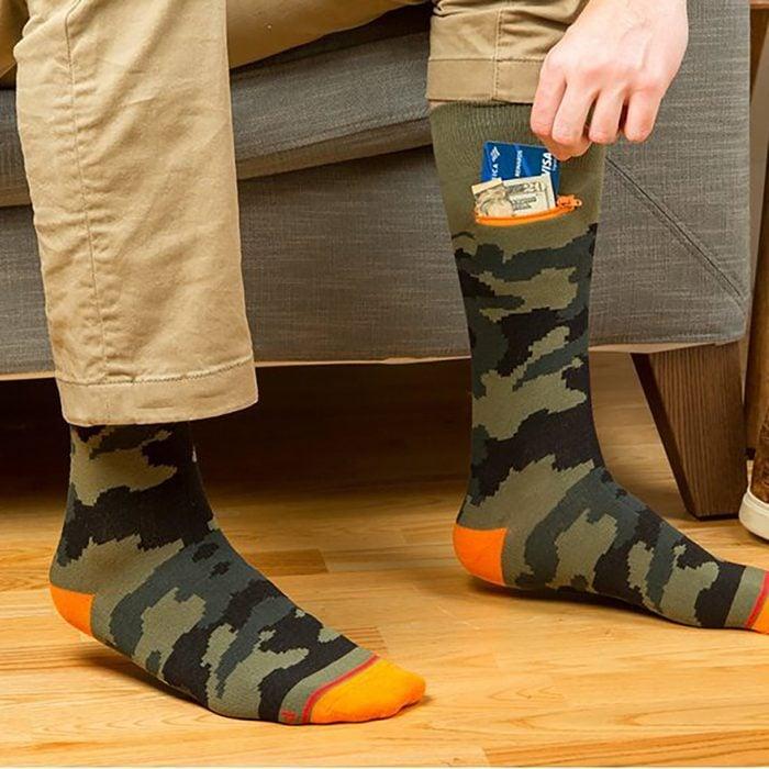 Mens Crew Pocket Socks