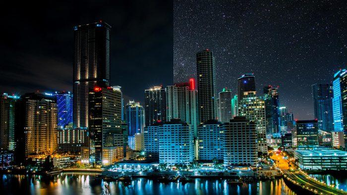 Miami Florida light pollution city