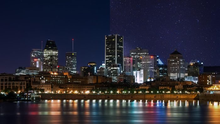 montreal Canada city light pollution