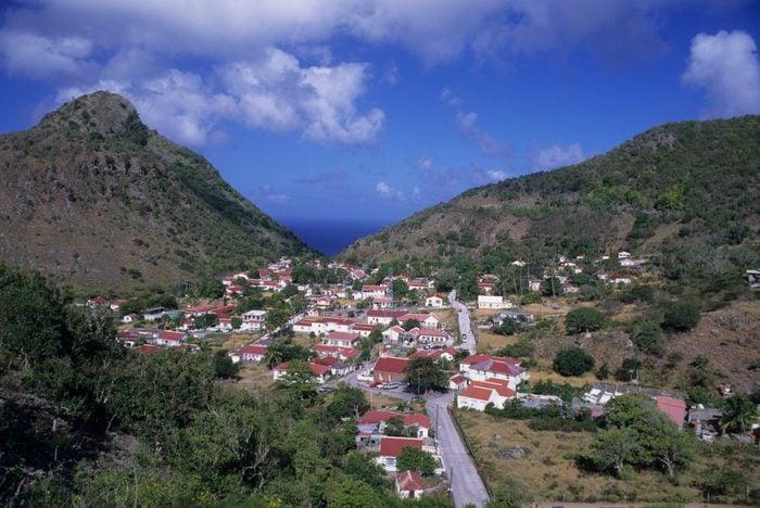 Netherlands Antilles, Saba Island, 'the Bottom' Village,...