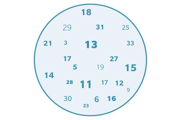 number jumbler illustration