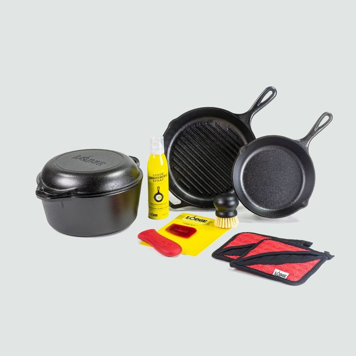 Lodge 10-Piece Cast Iron Cookware Set